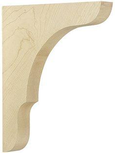 Large Maple Shelf Bracket x x 1 - Regal Selber Bauen Wooden Shelf Brackets, Wooden Corbels, Diy Wood Shelves, Kitchen Shelves, Decorative Corbels, Decorative Shelves, Ladder Shelf Diy, Wooden Diy, Wood Projects