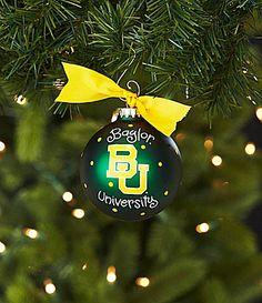 Baylor University Christmas Ornament