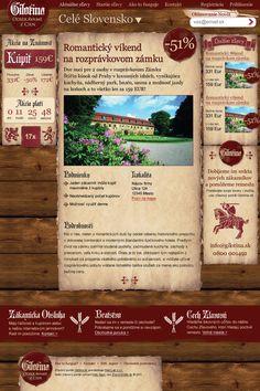 Gilotina.sk - Mediaeval looking Groupon clone design / zľavový portál so stredovekým dizajnom