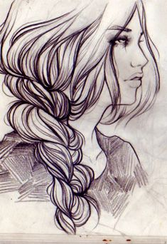 Sketchbook drawings, Dec 2011 by Soleil Ignacio Amazing Drawings, Easy Drawings, Amazing Art, Sketchbook Drawings, Art Sketches, Fashion Sketchbook, Fashion Sketches, Hair Sketch, How To Draw Hair