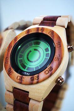 Kisai Rogue SR2 Wooden LCD Watch