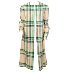 Pauline Trigere Blanket Plaid Coat