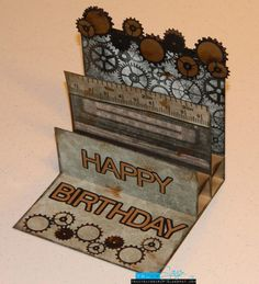 Masculine Birthday Cards to Make | How to make this card: