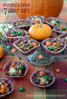 Pumpkin Spice 7 Layer Bars