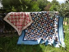The right bedquilt - I started it in 2002, finished it last year 2015.