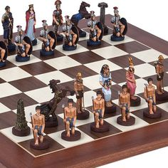Romans  Egyptian Chessmen  Stuyvesant Street Chess Board from Spain *** Visit the image link more details.
