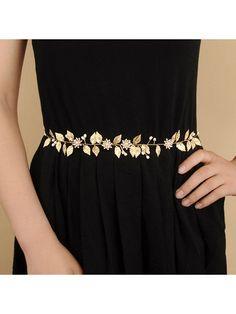 Women/'s Metal Chain Dress Belt Body Harness Decorated Skinny Waist Belt Golden Silver Tassel Waistband Accessory