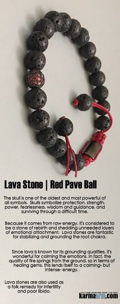 Since #lava #stone is known for its grounding qualities, it's wonderful for calming the emotions. #Beaded #Beads #Bijoux #Bracelet #Bracelets #Buddhist #Chakra #Charm #Crystals #Energy #gifts #gratitude #Handmade #Healing #Jewelry #Kundalini #LawOfAttraction #LOA #Love #Mala #Meditation #Mens #prayer #pulseiras #Reiki #Spiritual #Stacks #Stretch #Womens #Yoga #YogaBracelets #fertility