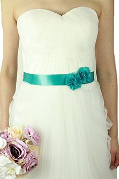Lemandy Vintage Two Flowers Bridal Sash Wedding Dress Belts Wedding Accessories B13 in 11 Colors (sea blue) Lemandy http://www.amazon.co.uk/dp/B015W4ZO8G/ref=cm_sw_r_pi_dp_0ekiwb0WTS8XA