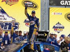 Brad Keselowski wins the Aaron's 499 at Talladega Superspeedway on 5/6/2012