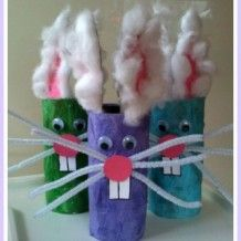 Easter Craft: Funny Bunnies #easter