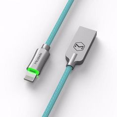 MCDODO Lightning Bolt - Smart Braided Charging Cable -iPhone-Teal