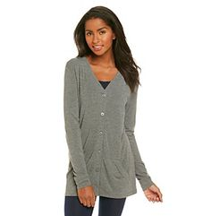 Product: Cuddl Duds® Second Layer Softwear Button Cardigan Cuddle Duds, Long Underwear, Comfy Shoes, Lazy, Buttons, Lingerie, Denim, My Style, Clothing