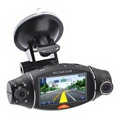 "BOOMYOURS 2.7"" TFT 270°Rotating Dual Camera Lens HD Car DVR Vehicle Blackbox DVR with G-sensor & GPS Module & SD Slot (Size-A1, Black)"