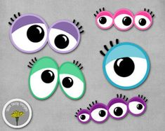Girly Monster Photo Props Printable Instant by yamdaisydesigns Doodle Monster, Monster Eyes, Monster Birthday Parties, Monster Party, Kids Mania, Handmade Crafts, Diy Crafts, Monster Photos, Local Craft Fairs