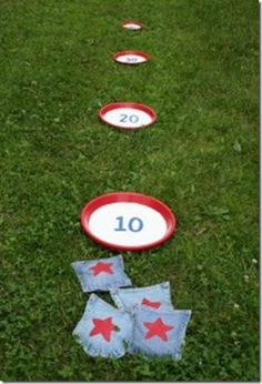 Family Camping Game Ideas | 10 Camping Games for Outdoor Fun! This looks simple to make and fun! :) I'm sure I have old jeans somewhere to use.