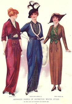 Edwardian and World War 1 Fashions