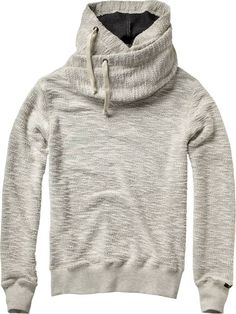 Home Alone hooded sweater with double collar - Sweats - Scotch & Soda Online Shop