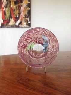 Mid century Kosta Boda  art glass  tiny bowl  ring dish