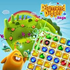 iamond Digger Saga videos game developed by King Group of Candy Crush Saga. The thriller and suspense based videos game playing millions of user monthly basis. Diamond Digger Saga have 4+ star for downloads and people interest and trust on this games. Diamond Digger Saga version in 1.2.1 and is famous for android apk files.