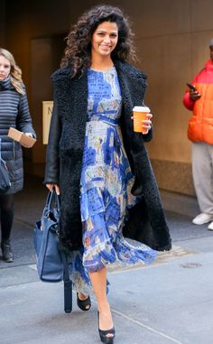 Camila Alves from The Big Picture: Today's Hot Pics  The foodie looks beautiful in blue while out and aboutin New York City.