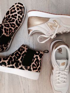 5e3b477c1b4 Fall sneaker season is here! Leopard and gold for the win. White Tees,