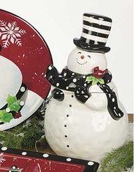 Snowy Friends Dinnerware - Cookie Jar