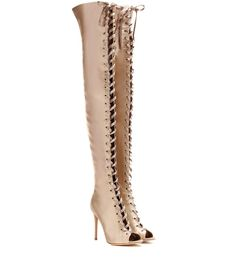 Gianvito Rossi - Marie satin over-the-knee boots | mytheresa.com