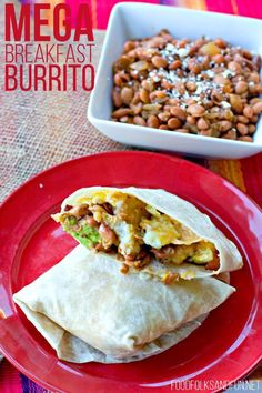MEGA Breakfast Burrito Recipe – these breakfast burritos are massive and stuffed with my secret ingredient that makes them incredible!  CLICK for the recipe!