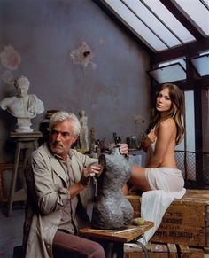 Mark Seliger, Jennifer Lopez with Sculptor