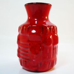 West German Pottery Vase • Ü-Keramik • Mid Century • 70s • Space Age