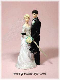 groom bride wedding cake top ethnic bachelor ice hockey stick puck Canada skates rink street rollerblades