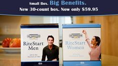 4Life Ritestart Men /Women contains Transfer Factor Plus, Bioefa and minerals that give men and women daily vitamins. 30 packages that give everbody daily need!!!