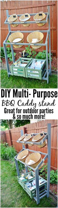 DIY BBQ Caddy Stand