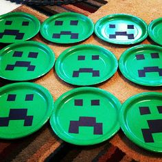 Gmo Techno: Minecraft Birthday Party Decorations Minecraft Party Supplies, Minecraft Party Decorations, Minecraft Birthday Party, Boy Birthday Parties, 10th Birthday, Birthday Party Decorations, Birthday Ideas, Creepers, Party Like Its 1999