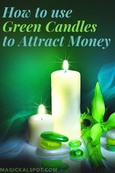 In this article, we'll show you How to Use Green Candle to Attract Money and luck. We'll also share with you a few quick rituals. Wiccan Spell Book, Wiccan Spells, Moon Spells, Voodoo Spells, Green Witchcraft, Spell Books, Candle Magic, Candle Spells, Money Prayer
