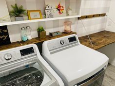 Drab to Fab: Laundry Room Makeover Laundry Room, Washing Machine, Home Appliances, Diy, House Appliances, Bricolage, Laundry Rooms, Kitchen Appliances, Washer