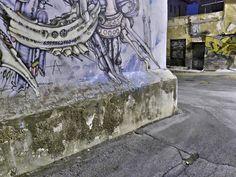 Άνω Πόλη: στροφή με γκράφιτι (Αύγουστος 2016)