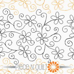 Playful Daisies Pantograph Pattern - Digital & paper available