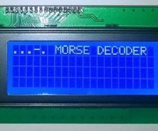 This device reads hand keyed Morse code from a signal key (or an ordinary switch) and translates it to plain text and show the Morse code you're keying on an LCD. I...