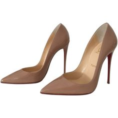 Pre-owned So Kate pumps in nude (10 245 ZAR) ❤ liked on Polyvore featuring shoes, pumps, nude, pre owned shoes, nude pumps, christian louboutin, nude court shoes and christian louboutin pumps