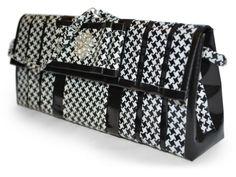 Houndstooth duct tape designer bag