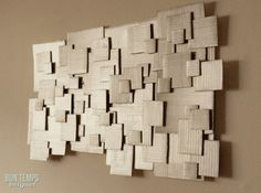 layered cardboard - do entire wall for big impact