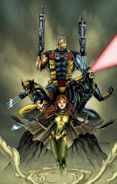 cable, wolverine, cyclops, phoenix