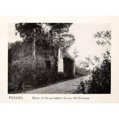 1923 Print Govenors House Home Raid Ruins Captain Henry
