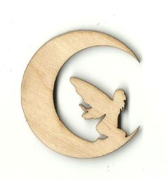 Fairy on the Moon - Laser Cut Wood Shape MYTH52