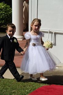 cute flower girl and page boy!