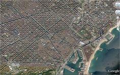 Ejemplo de plano ortogonal en Barcelona.