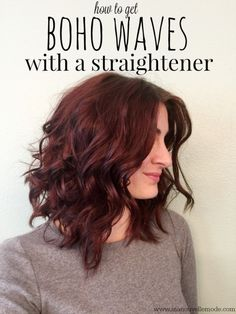 how to curl your hair with a straightener. I would like to master this. I suck at it.