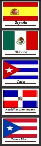 Printable Spanish speaking countries' flags
